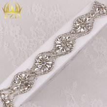 10yards Wholesale 1 Yard Sewing On Beaded Hot Fix Rhinestone Appliques Bridesmaid Trim for Wedding