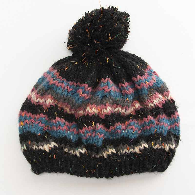 6f3c3ff3eb2 ... New Hats 1PC Women Cable Knitted Bobble Hat Plain Mens Womens Beanie  Warm Winter Pom Wooly ...