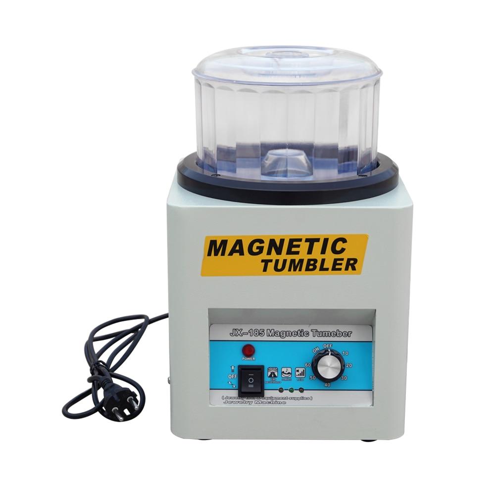 220V Magnetic Tumbler 180mm Super Finishing Machine Jewelry Polisher