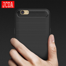 JCDA Brand For OPPO A59 A59S F1S phone Case bag Carbon Fibre Brushed TPU soft protective Smart back cover shell Shockproof