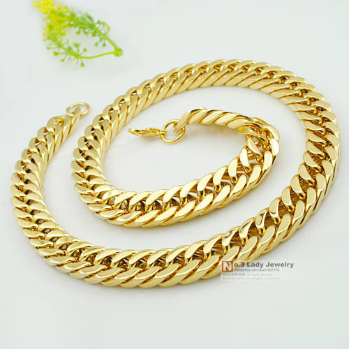 2015 New Arrivals Jewellery Mens Silver & Gold Stainless Steel Necklaces Chain Fashion Jewelry Wholesale WN416