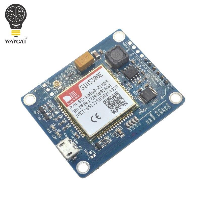Carte de développement de module WAVGAT SIM5300E 3G quadri-bande GSM GPRS GPS SMS avec antenne PCB