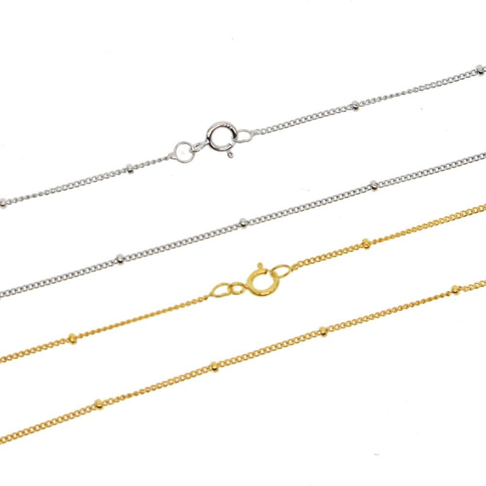 Gorąca sprzedaż 925 srebro Link łańcuchy naszyjniki Fit For wisiorek urok dla kobiet mężczyzn luksusowe S925 delikatny delikatny biżuteria prezent