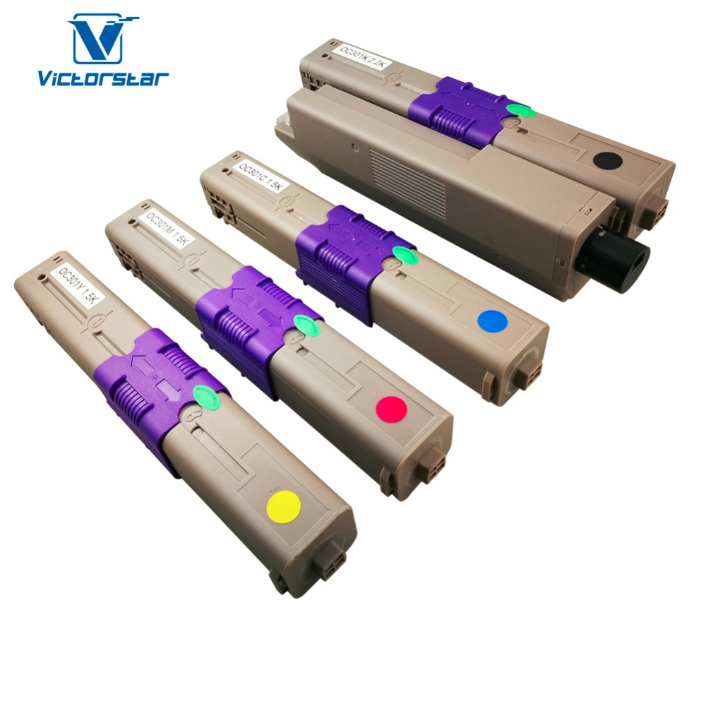 Compatible Toner Cartridge for OKI C301 C321 MC332 MC342 series 4 Colors (BK+C+Y+M) VICTORSTAR цена и фото