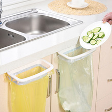 Kitchen Cupboard Back Trash Bag Rack Cabinet Door Garbage Bag Holder Hanging Kitchen Cabinet Hanging Trash Rack kitchen Tools