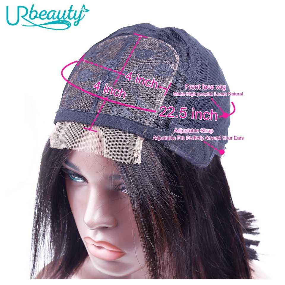 Ur beauty, парики из натуральных волос, короткий парик-Боб, с волосами младенца, 4x4, прямые волосы, парик, бразильские волосы remy, плотность 180%