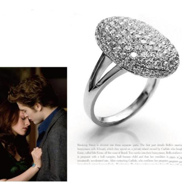 Twilight Bella Engagement Ring Zirconia Big Rings For ... - photo#28