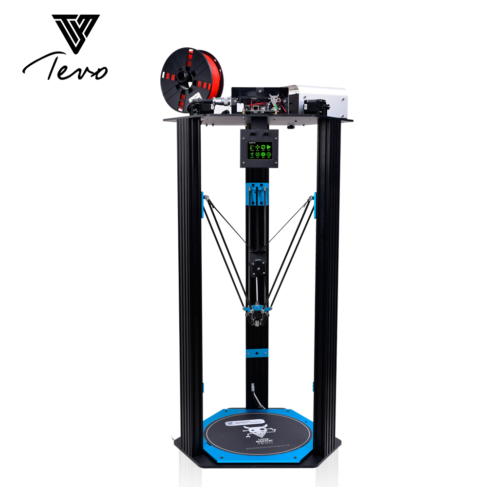 TEVO Little Monster Delta 3D Printer 3D DIY Kit Strong Extrusion Full Metal Large Printing Size 3D Printer SD Card As Gift