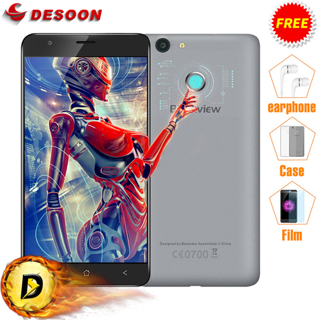 """Case Gifts!Blackview E7 Mobile Phone Android 6.0 4G LTE 5.5"""" MTK6737 1GB RAM 16GB ROM Fingerprint ID 8MP CellPhone with Earphone"""