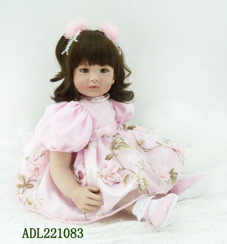 About 22 Silicone Vinyl Reborn Baby Dolls lifelike soft accompany sleeping girl doll handmade fashionable baby gift new style