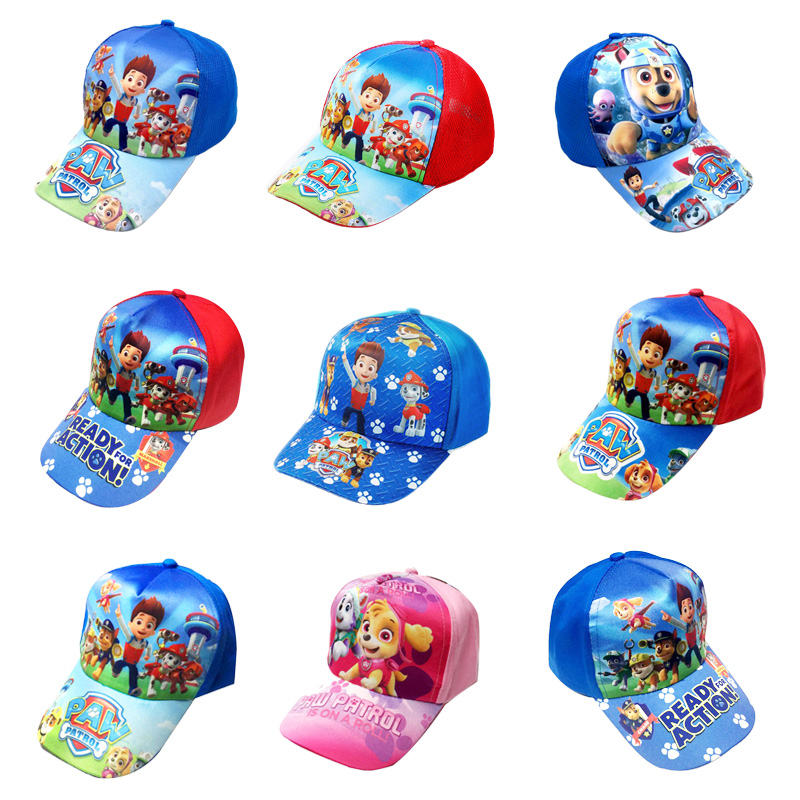 Paw Patrol Baby Kids Cartoon Cute Hat Figure Toy Puppy Patrol Comfortable Peak Cap Children Kids Cotton Gift Toys