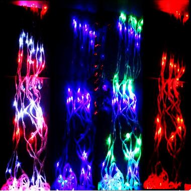 New Year!2X2M Christmas LED Waterfull Lights Outdoor Decoration AC LED String Lights Christmas Wedding Garlands Luces de Navidad