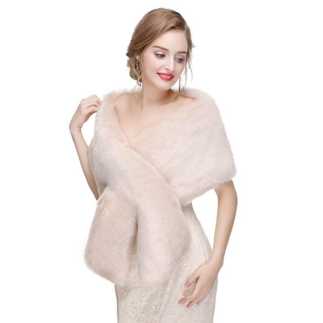 Forevergracedress 2019 Elegant Soft Autumn Winter Fur Bride Wedding Wraps/Bolero