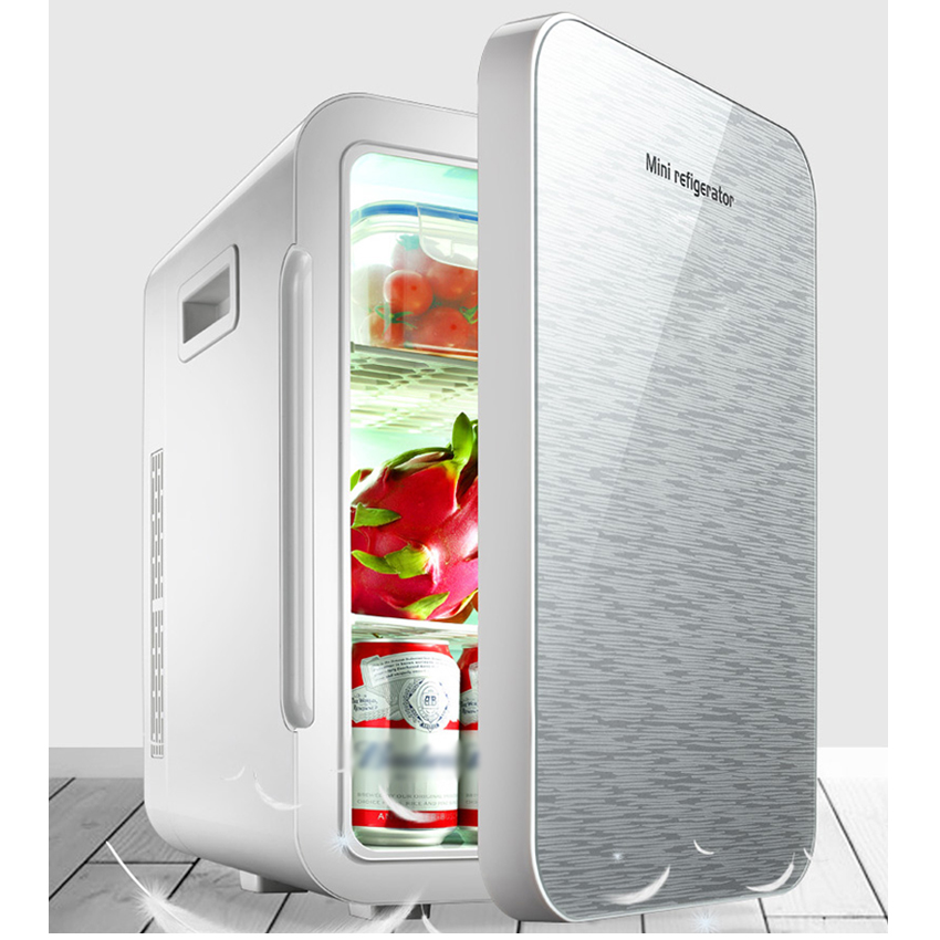 22 L Mini Fridge Refrigerator Car Home A Dual Use Compact Car Fridge 12/220 V Temperature Variations F-W25SA Portable Freezer