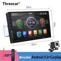 Built in Carplay Mirror link Android 9.0 2din Car radio 9 inch Bluetooth USB Rear View Camera MP5 Player One Din Autoradio