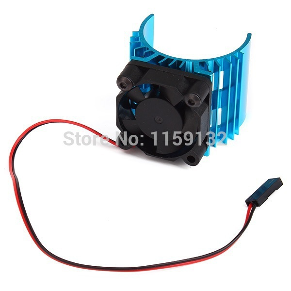 Blue Radiator for 1/10 Car <font><b>540</b></font>/550 3650 Size <font><b>Motor</b></font> with 4.8-6V Cooling <font><b>Fan</b></font> image