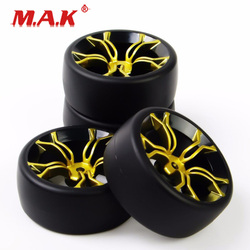 PP0477+MPNKG 1/10 Scale Drift Tires and Wheel Rims with 12mm Hex fit RC On-Road Racing Car Accessories
