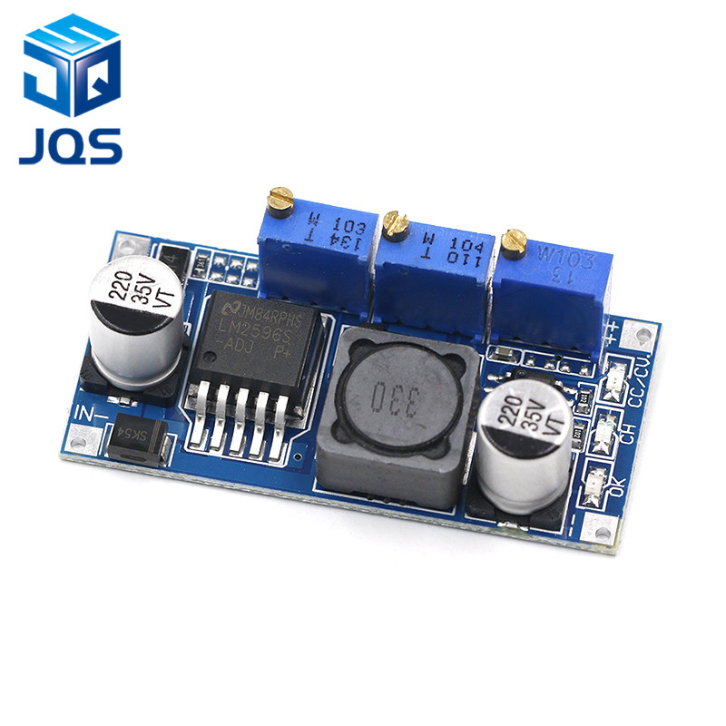 1pcs LM2596S DC-DC Constant Current Module LM2596 DC-DC 7V-35V Step-down Adjustable CC/CV Power Supply Module