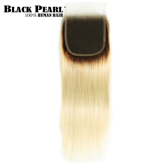 Black Pearl Ombre Bundles With Closure Peruvian Straight Hair 613 Honey Blonde Bundles With Closure Remy 613 Hair Extensions 4