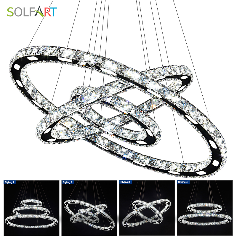LED Crystal Pendant Lights Dining Room Lamp Cord Pendant Lustres Light Fixtures Bar Dimming light Lamp a1 master bedroom living room lamp crystal pendant lights dining room lamp european style dual use fashion pendant lamps