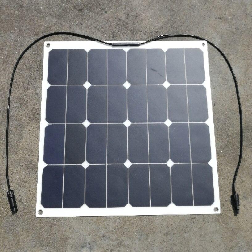 Sunpower 18 v 50 watt Flexible Solar Panel Solar Module für Fischerboot Auto RV 12 v Batterie 50 watt solar Ladegerät Fabrik P