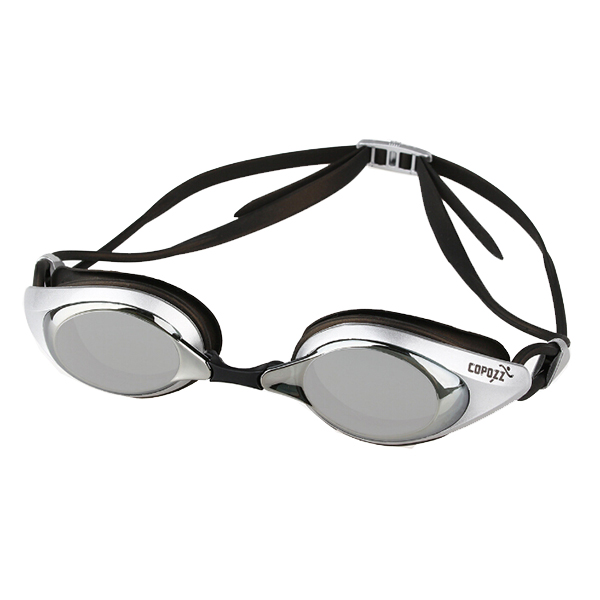 Copozz Swimming Glasses Swim Goggles Anti Fog UV Silicone Waterproof for Men Women Adults Sport Swimming goggles Plating Silver
