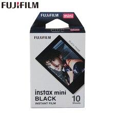 Echt Fujifilm Instax Mini Zwart Frame Film 10 Vellen Voor Mini 11 9 8 7 7S Plus 70 90 25 50S Camera Delen SP 1 SP 2