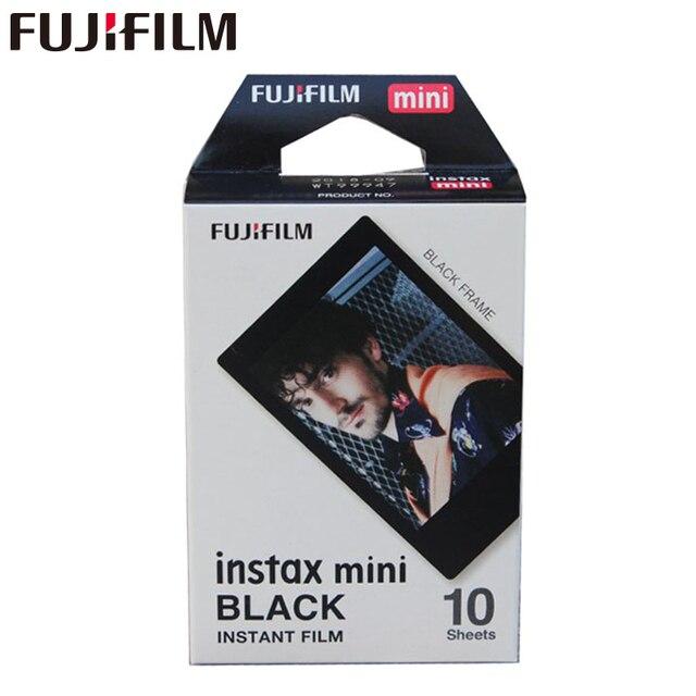 Fujifilm Instax Miniกรอบสีดำแผ่นฟิล์ม10แผ่นสำหรับMini 11 9 8 7 7S Plus 70 90 25 50Sกล้องหุ้นSP 1 SP 2