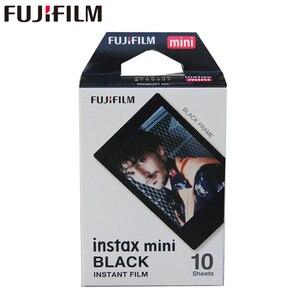 Image 1 - Genuine Fujifilm Instax Mini Black Frame Film 10 Sheets for Mini 11 9 8 7 7s Plus 70 90 25 50s Camera Share SP 1 SP 2