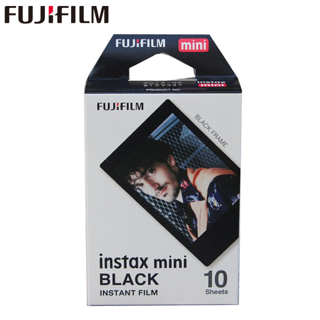 Genuine Fujifilm Instax Mini Black Frame Film 10 Sheets for Mini 11 9 8 7 7s Plus 70 90 25 50s Camera Share SP 1 SP 2