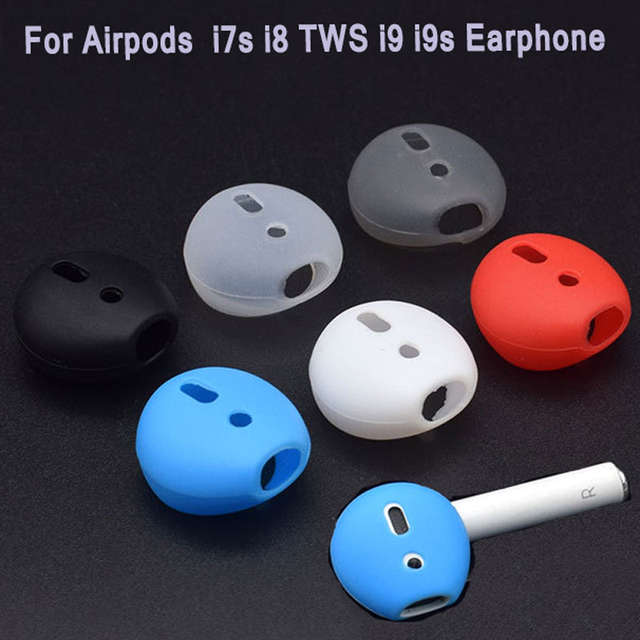 US $0.85 32% OFF|For iphone 7 7plus i7s i8 TWS i9 i9s Earphone For Airpods Dual Wireless Bluetooth High Quality Silicone Ear Caps Case Ear pads in