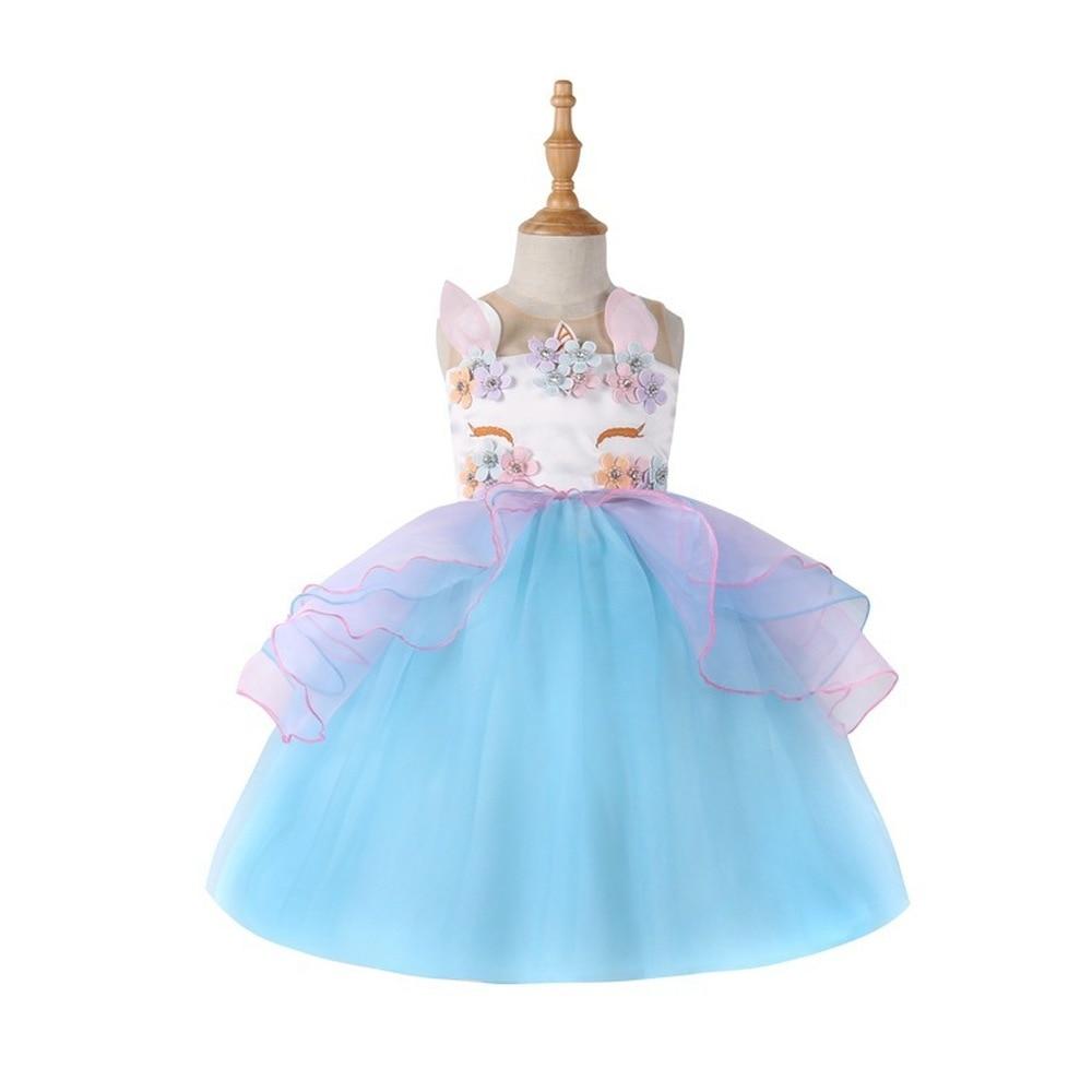 4699a6274ce2 Flower Girls Unicorn Tutu Dress MOANA Cute Girls Birthday Party Princess  Dress Children Kids Halloween Unicorn. sku: 32977106151