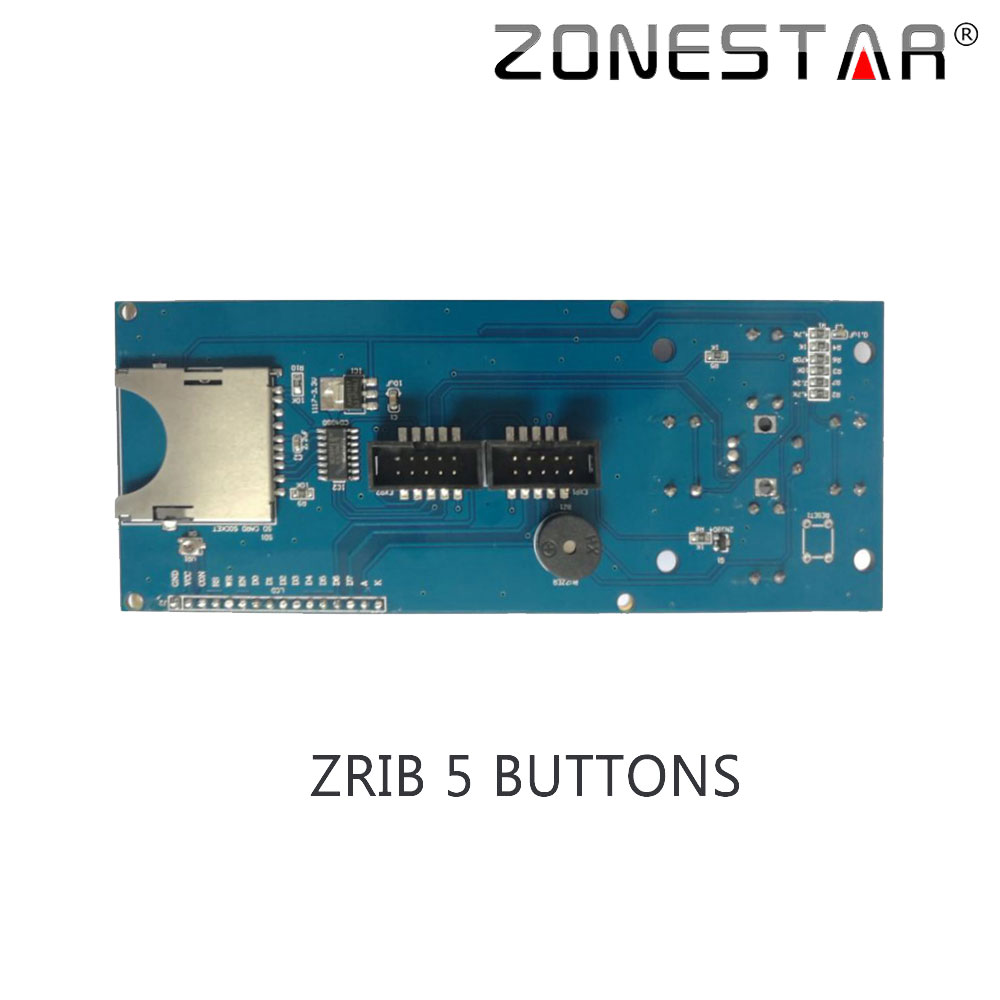 Zonestar 2004 LCD display with 5 Buttons KEYPAD for ZRIB board for ...