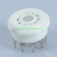 5pcs 9pin B9A Ceramic Tube Socket for 5670 EL84 ECC82 12AX7 6922 ECC83 6DJ8 PCB
