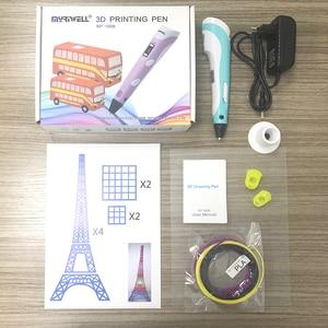 Image 2 - Myriwell 3D القلم LED عرض 2nd الجيل 3D الطباعة القلم مع 9 M ABS خيوط الفنون DIY أقلام للأطفال أدوات الرسم
