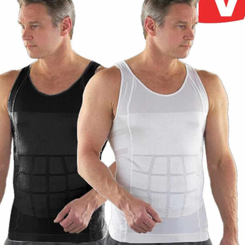 48739b9712d As Seen On TV Tank Tops Men Good Quality Men Slimming Lost Weight Vest Shirt  Fatty