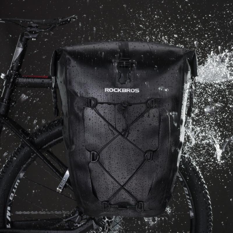 artisanat de qualité grande vente 100% authentifié € 53.2 50% de réduction|Sac à bagages vélo étanche 27L grand sac à main vtt  voyage bolsa bicicleta sacs arrière vélo accessoires vélo sac à bagages-in  ...