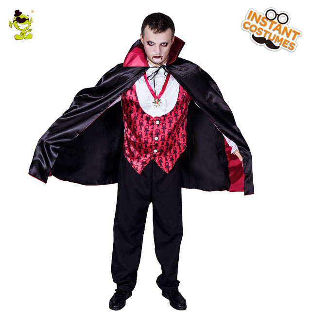 2018 halloween party mens deluxe vampire costume performance gothic vampire clothes role play vampire halloween for