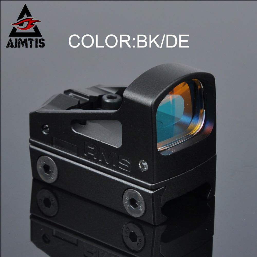 AIMTIS chasse portées RMS Reflex Mini point rouge vue avec monture ventilée et entretoises pour pistolet Glock 20mm montage sur Rail