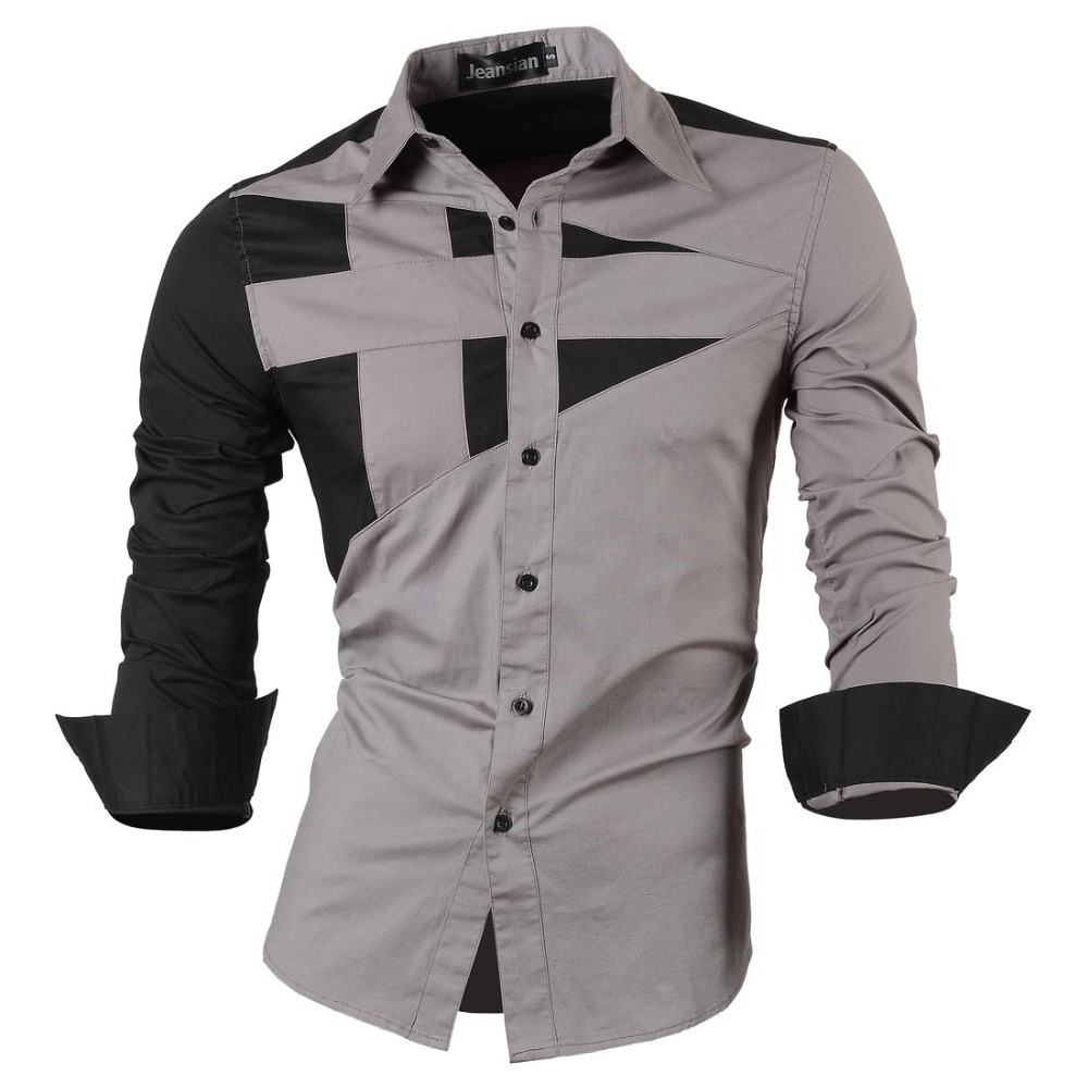 2016 New Stylish Designed Mens Dress Tops Casual Shirt ...