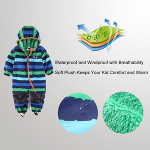 Image 4 - UmkaUmka Pelele softshell para niño, ropa de bebé repelente al agua y resistente al viento para media temporada con capucha y cremallera, la mejor venta