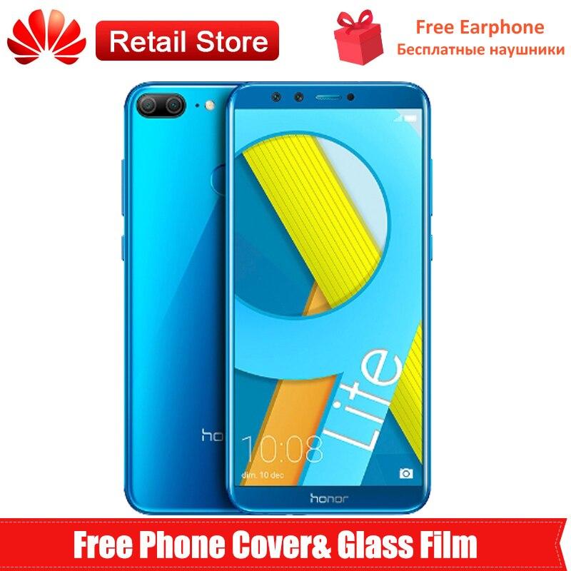 """Глобальная прошивка huawei Honor 9 Lite 4G мобильный телефон 5,65 """"Octa Core Kirin 659 Android 8,0 двойной камеры отпечатков пальцев мАч телефон"""