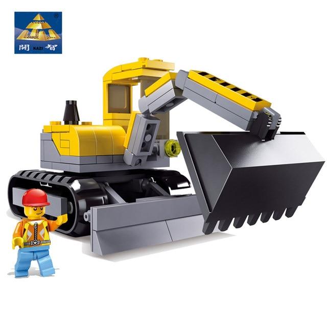 Original Box Kazi Blocks City Construction Digging Engineering Vehicles Trans Toys Robot Model Building Blocks