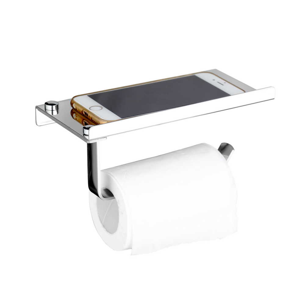 hello stainless steel paper tissue holder stand toilet shelves wall mounted roll paper rack phone holder