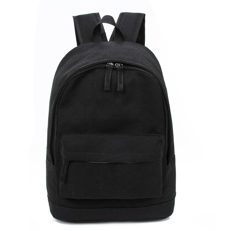 Korea Style Fashion Backpacks for Men and Women Solid Preppy Style Soft Back <font><b>Pack</b></font> Unisex School Bags Big Capicity Canvas Bag