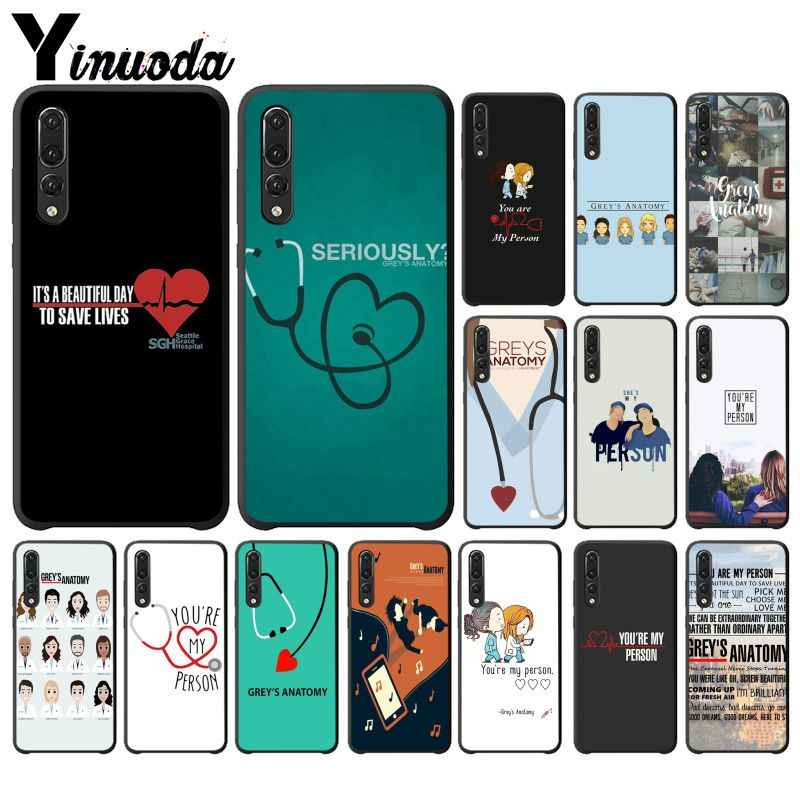 Yinuoda You're My Person Greys Anatomy Black Phone Cover for Huawei Mate10 Lite P20 Pro P9 P10 Plus Mate9 10 Honor 10 View 10