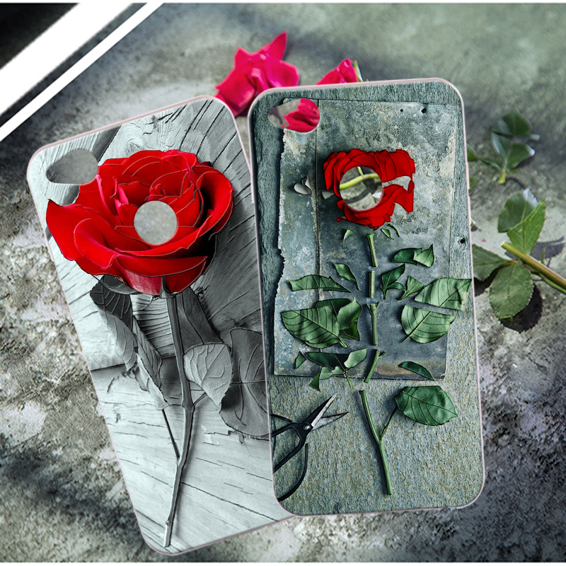 For ZTE Nubia Z11 / Z11 Max Rose Flower Silicone Cover 3D Relief Skin Phone Cases For ZTE Nubia Z11 Mini S / Nx529j