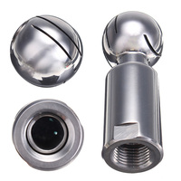 Stainless Steel 0 5 Inch Rotary Spray Ball Female Thread CIP Tank Cleaning Head For Food