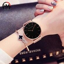 Zegarek Damski Luxury Women Quartz Wrist Watches Fashion Rose Gold Steel Mesh Ladies Dress Watch 40mm Female Male Clock Relogios цена и фото