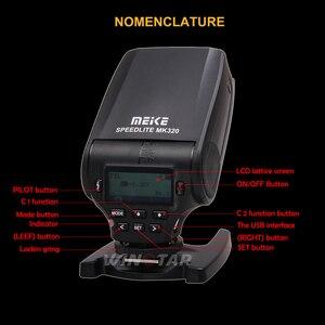 Image 4 - חדש מיני פלאש Speedlite MEIKE MK320 TTL פלאש עבור Canon EOS 5DII 6D 7D 40D 50D 60D 70D 550D 600D 650D 700D 580EX 430EX מצלמות